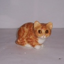 Winstanley Cat Ginger and White Crouching Size 1